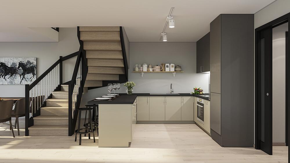 kjøkken og stue stivlevågen til salgs